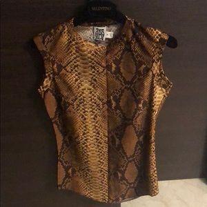 Gaultier sleeveless snake skin print top